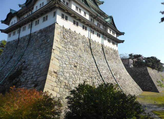 名古屋城(愛知県)の天守台石垣